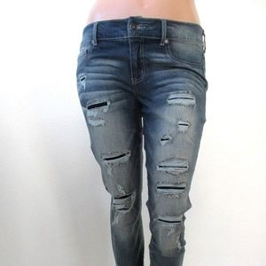 MAURICES Jeans RIPPED Skinny PLUS SIZE 18 Reg NWT